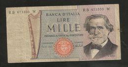REPUBBLICA ITALIANA - 1000 Lire - VERDI II° Tipo - (1973 - Firme: Carli / Barbarito) - [ 2] 1946-… : Repubblica