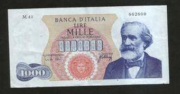 ITALIA - BANCA D' ITALIA - 1000 Lire VERDI I° Tipo (Decr. 20 / 05 / 1966 - Firme: Carli / Febbraio) - [ 2] 1946-… : Repubblica