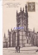 CPA  D'  AMBERT (63) - EGLISE SAINT JEAN  N° 32 CARTE PRECURSEUR -  édit A. CHARTOIRE  1927 - TIMBRE PERFORE - Ambert