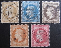 LOT R1576/44 - NAPOLEON III Lauré N°28 à 32 - Cote : 89,00 € - 1863-1870 Napoleon III With Laurels