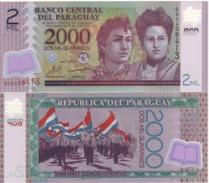 PARAGUAY 2'000 Guaranis  P228b     Dated  2009  POLIMER   UNC - Paraguay