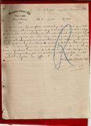 Courrier Espagne Wenceslao Alonso E Hijo Pieles Y Lanas Lerin Navarra 23-07-1897 - écrit En Espagnol - Spain