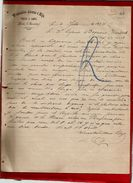 Courrier Espagne Wenceslao Alonso E Hijo Pieles Y Lanas Lerin Navarra 4-07-1897 - écrit En Espagnol - Spain