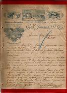 Courrier Illustré Espagne Fabrique Estamenas Gy E. Fernandez D. Laza Valladolid 14-02-1897 - Laine - écrit En Espagnol - Spain