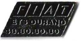 F10 - FIAT - ETS DURAND - Verso : SM - Fiat