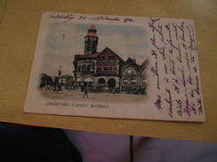 Cpa Asie Anciennes Colonies Crawford Market Bombay - Cartes Postales