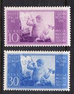 ITALIA 1948. PROCLAMAZIONE DELLA NUOVA COSTITUZIONE  SASSONE Nº 578/579**. NUOVO MAI LINGUELLATO   CECI 2 Nº 107 - 1946-.. République
