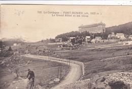 66. FONT ROMEU. CPA. LE GRAND HOTEL ET LES VILLAS . ANNÉE 1926 - Andere Gemeenten