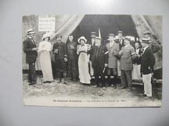 A442. CPA. 18.. SAINT-AMAND-AVIATION. Les Aviateurs Et Le Comité Des Fêtes.    Beau Plan Animé.  écrite & Voyagée 1912 - Saint-Amand-Montrond