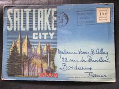 Dépliant Touristique : Photos De Salt Lake City 1948 - UTAH - Souvenir Folder USA - Dépliants Touristiques