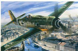 Focke Wulf 190D -  Capitaine Hans Dortemann  -  1945  -  Art Carte Par Benjamin Freudenthal - CPM - 1939-1945: 2ème Guerre
