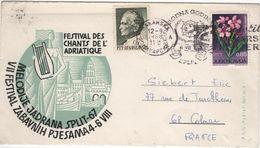 FLOR-L139 - YOUGOSLAVIE  Env. Souvenirs Festival Des Chants De L'Adriatique 1968 - 1945-1992 République Fédérative Populaire De Yougoslavie