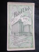 Dépliant Touristique : Photos De Hotel Utah - Salt Lake City - Folder USA Publicité Advertisement - Dépliants Touristiques