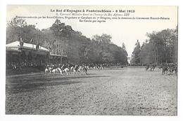 FONTAINEBLEAU  (cpa 77)   Le Roi D'Espagne Alphonse XIII - Carrousel Militaire - Les Chevaux Sauteurs -   - L 1 - Fontainebleau