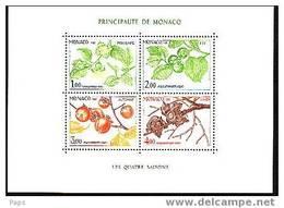 MONACO-1981-BLOC N°20**  LES 4 SAISONS DU PLAQUEMINIER - Blocks & Sheetlets