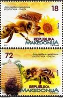 Macedonia - 2017 - Ecology - Bees - Mint Stamp Set - Macedonia