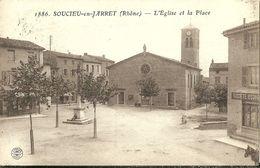 Soucieu En Jarret L Eglise Et La Place - France