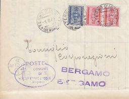 BUSTA PERIODO 1944 CON SEGNATASSE TERNO D'ISOLA BERGAMO - Altre Collezioni