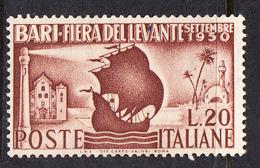 ITALIA 1950.  14ª FIERA  DEL LEVANTE A BARI. SASSONE Nº627  NUOVO SENZA GOMMA  CECI 2 Nº 107 - ...-1850 Préphilatélie