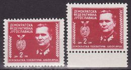 Yugoslavia 1945 Marshal Tito,Mi 464 A,b (rose Red And Carmin Red) MNH (**) - 1945-1992 Socialistische Federale Republiek Joegoslavië