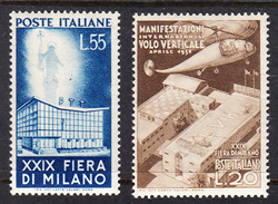 ITALIA 1950 29ª FIERA DI MILANO SASSONE Nº657/658 *  NUOVO LINGUELLATO  CECI 2 Nº 107 - ...-1850 Préphilatélie