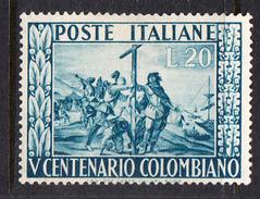 ITALIA 1950  5º CENTENARIO CRISTOFORO COLOMBO   SASSONE Nº660 *  NUOVO LINGUELLATO  CECI 2 Nº 107 - ...-1850 Préphilatélie