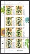 Bosnia Serbia 2017 Flora, Industrial Plants, Flowers, Soya, Cannabis, Flax, Sunflower, Mini Sheet MNH - Végétaux