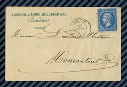 Vienne - Loudun Pour Moncontour De Poitou - 1865 - Marcofilie (Brieven)