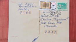 DDR-WU: Gs-Karte Mit 10 Pf  Bauwerke Kl. Format, Mit Zusatzfrank. (ab 6.2.90 Nur 8 Mon.so Nutzbar) Vom 3.10.90 Knr: P 90 - DDR