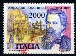 457> ITALIA 1986 < AMILCARE PONCHIELLI > Da Lire 2.000 = Valore Catalogo € 1,50 - 6. 1946-.. Repubblica