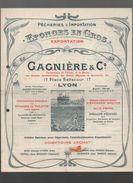 Lyon (69 Rhône) Catalogue GAGIERE  EPONGES EN GROS + Autres Docs  1924 (CAT 885) - Publicités