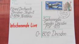 BRD-VGO: Gs-Postkarte Mit 30 Pf Celle Mit Zusatzfrank. -GS Wurde Speziell Für VGO Verausgabt- V. 15.4.91 Knr: P147, 1522 - BRD