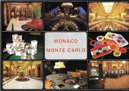 MONACO MONTE-CARLO CASINO MULTI-VUES ARGENT CASINO ROULETTE JETONS  MACHINES A SOUS N° 518  EDIT. MOLITOR - Casino