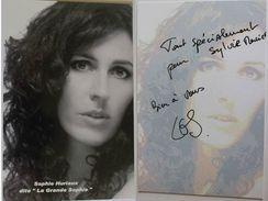 """Carte Postale - Sophie HURIAUX - Dite """" La Grande Sophie """" - Dédicace - Hand Signed - Autographe Authentique  - - Chanteurs & Musiciens"""