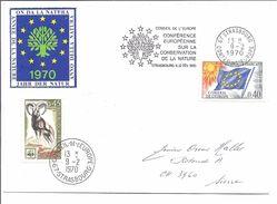 FRANCE Conseil De L'Europe Conference Conservation Nature De 1970 - Postmark Collection (Covers)