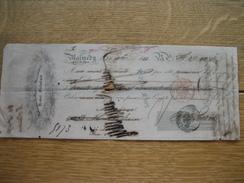 Lettre De Change De 1853 De Henri STEINBACH à MALMEDY - Fabrique De Papiers Mécaniques - Lettres De Change