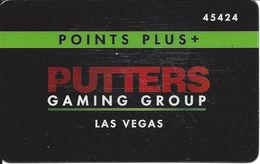 Putter's Bar & Grill - Las Vegas, NV - Points Plus Slot Card - Casino Cards