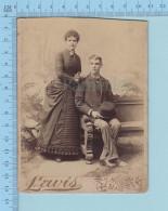 Photo Cabinet  CDV - Couple   , Photographe: Lewis , Hudson Mass. USA - Photos