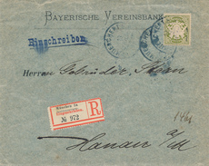 MÜNCHEN - Ab 1.1.1900 Möglich , R-Brief Nach Hanau - Beieren
