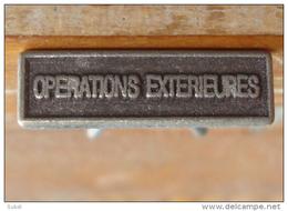 OPEX OPERATIONS EXTERIEURES Petite Agrafe Pour Barrette Rappel Médaille - Armée De Terre