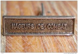 NAGEUR De COMBAT COMMANDO Petite Agrafe Barrette Rappel Médaille - Marine
