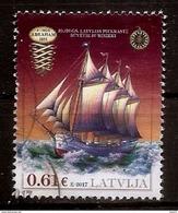 2017 LATVIA , Latvian Ships - Schooner Abraham 1891 STAMP  Used (0) - Latvia