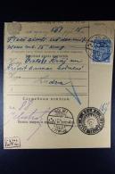 In Latvia Used  Russian Money Order 1922 Bolwa Ludsen - Lettland