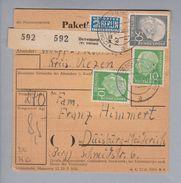 Heimat DE Ns Bevensen (Kr.Uelzen) Paketkarte Nach Duisburg 1955-03-12 - Lettres & Documents