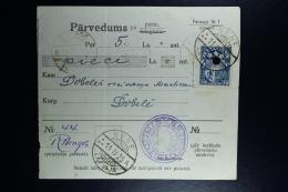 Latvia:  Money Order 1925 Behnen Dobele - Lettland