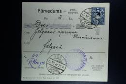 Latvia:  Money Order 1925 Behnen Jelgawa - Lettland