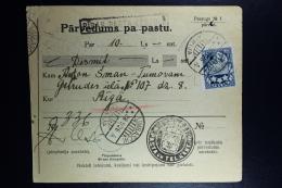 Latvia:  Money Order 1926 Lemsal Riga - Lettland