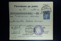 Latvia:  Money Order 1927 Riga - Lettland