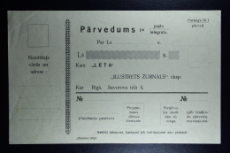 Latvia:  Money Order 192  Not Used - Lettland