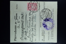 Latvia:  Money Order 1930 Riga Kursisi Saldus - Lettland